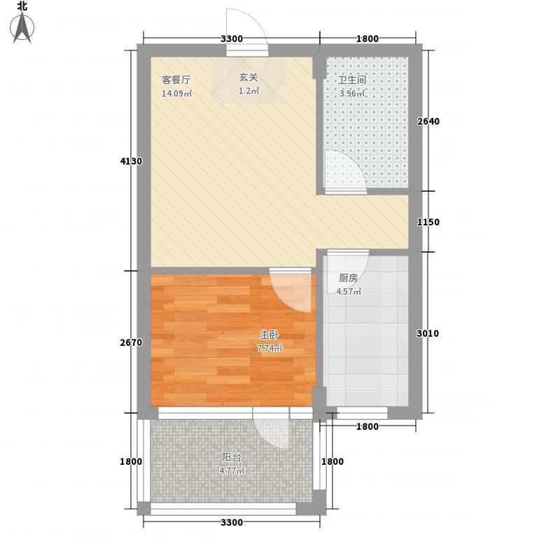 加拿大郡44.07㎡加拿大郡户型图A8户型1室1厅1卫户型1室1厅1卫