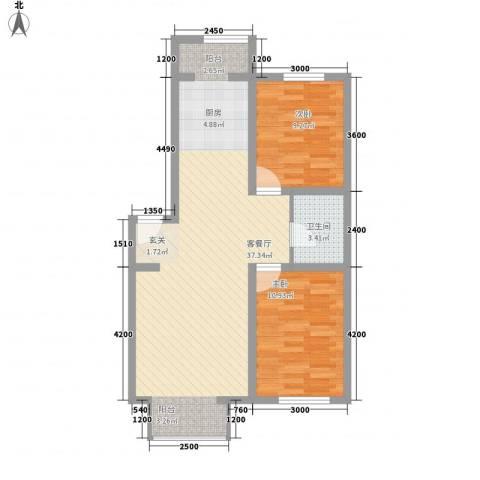 东正富贵雅居2室1厅1卫0厨87.00㎡户型图
