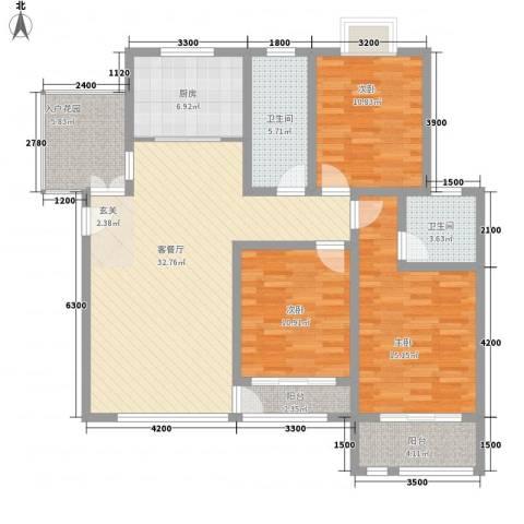 英伦花园3室1厅2卫1厨142.00㎡户型图