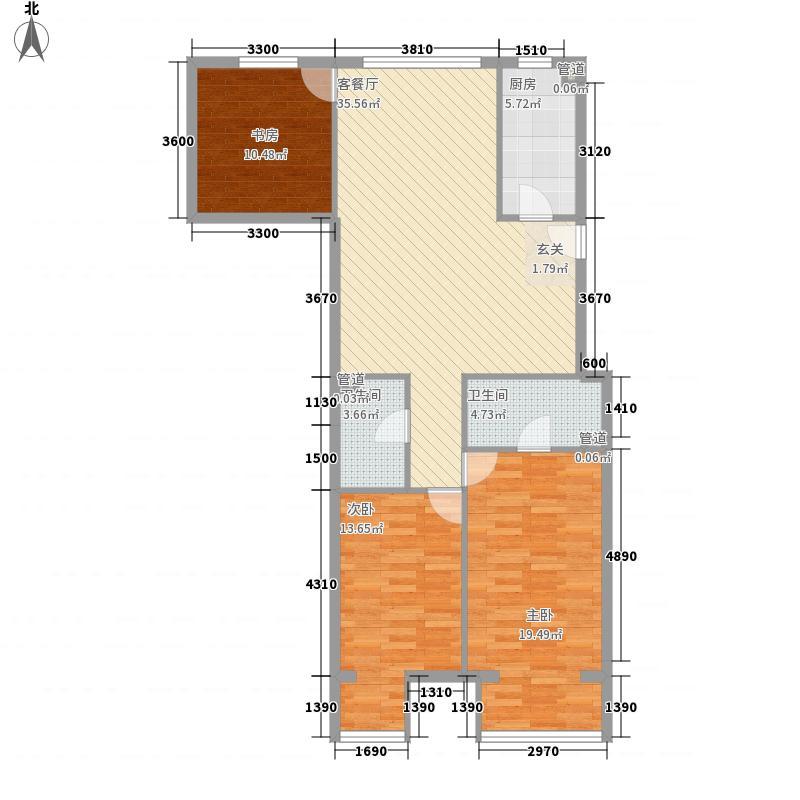 华尔街观典135.34㎡2号楼P已售完户型3室2厅2卫1厨