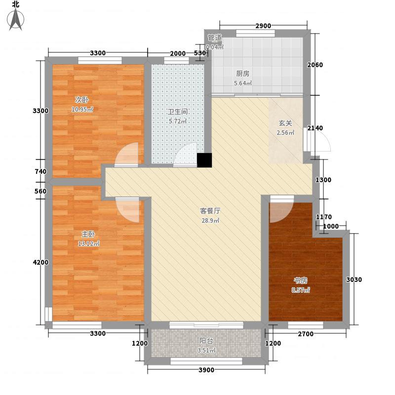 和�雅轩15.00㎡D1户型2室2厅1卫1厨