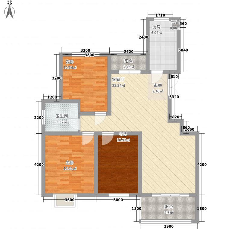 金色家园一期2#、3#楼边户F户型