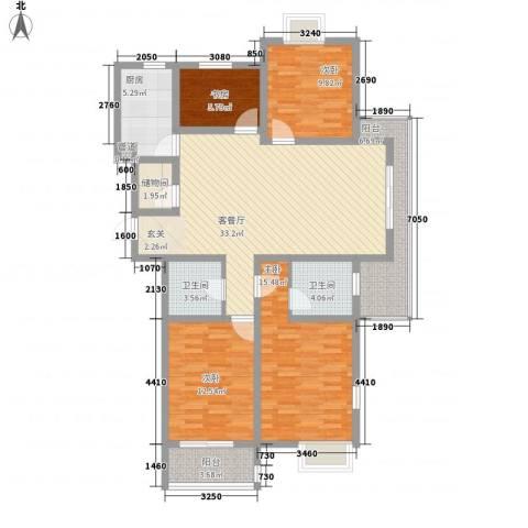 水岸人家4室1厅2卫1厨119.20㎡户型图
