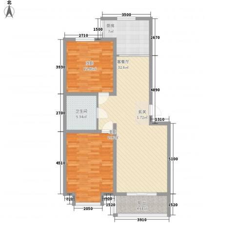 富丽小区2室1厅1卫1厨111.00㎡户型图