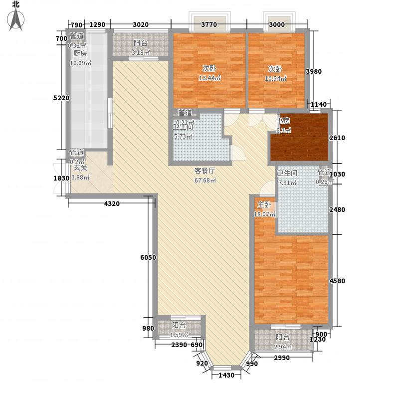 合生御龙城A户型4室2厅2卫1厨