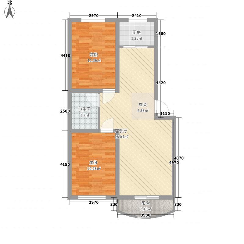 博雅西苑86.00㎡博雅西苑户型图户型图2室2厅1卫1厨户型2室2厅1卫1厨