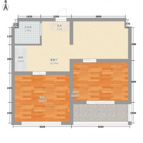 井冈江山2室1厅1卫0厨65.00㎡户型图