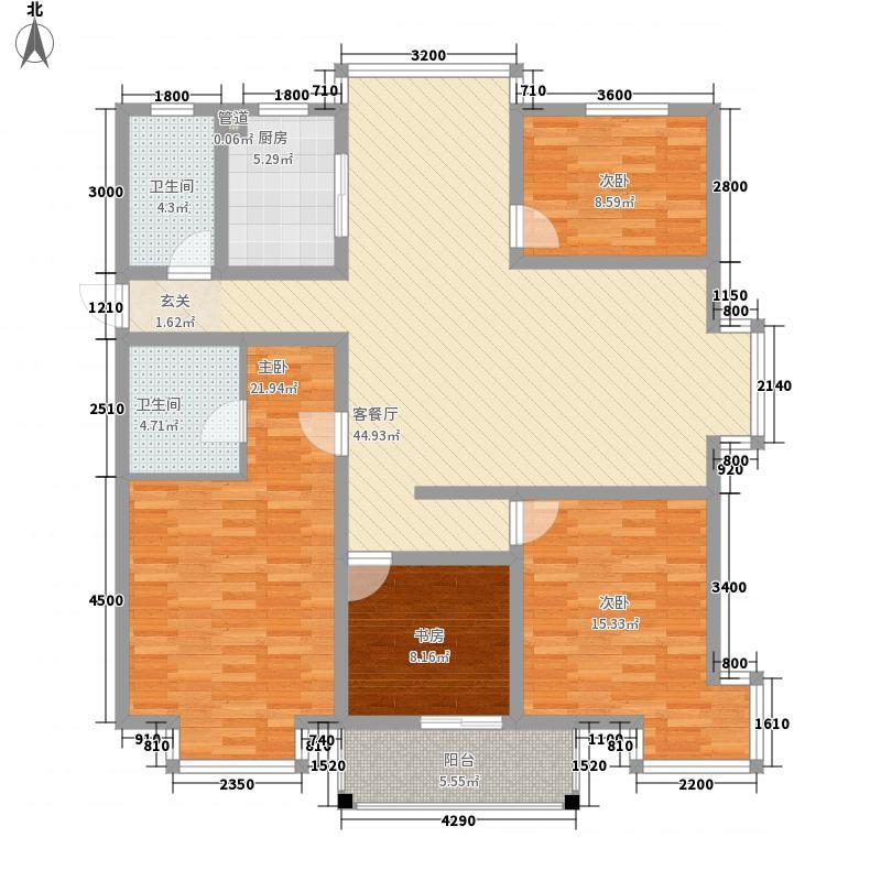 冠达豪景苑143.50㎡冠达豪景苑户型图F1-14室2厅2卫1厨户型4室2厅2卫1厨