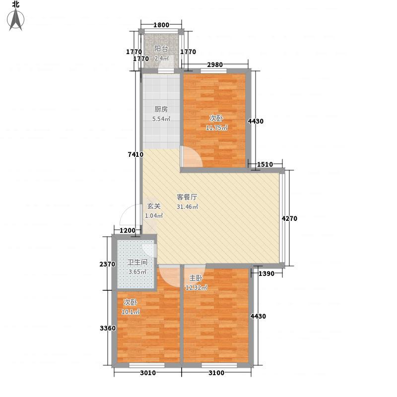 农垦新城69.19㎡农垦新城户型图R户型3室1厅1卫1厨户型3室1厅1卫1厨