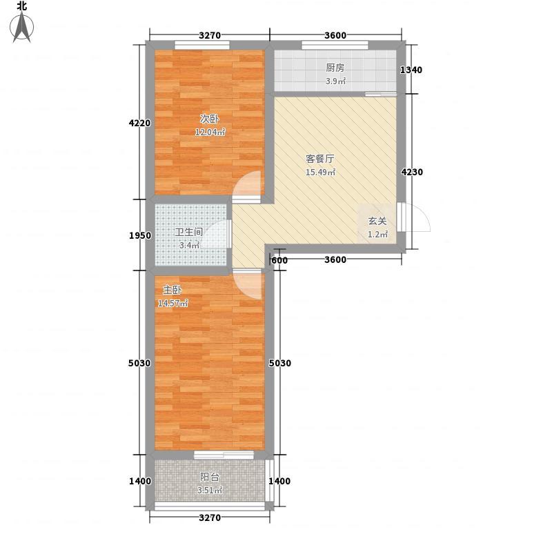 东上金地76.41㎡东上金地户型图户型12室1厅1卫户型2室1厅1卫