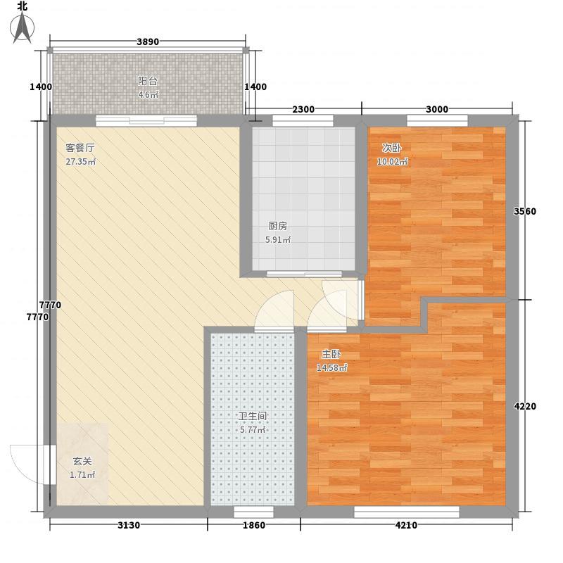 常青花园2室2厅3户型2室