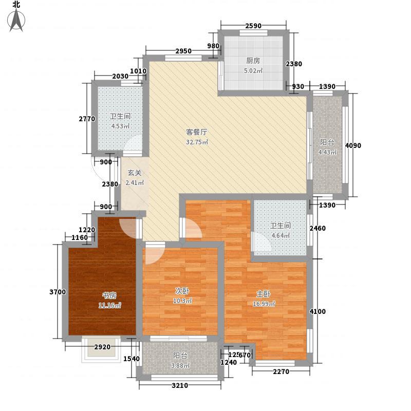 万豪新城84.00㎡A户型2室2厅1卫1厨