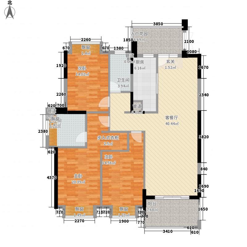贵安新天地129.00㎡贵锦苑J1a户型3室2厅2卫
