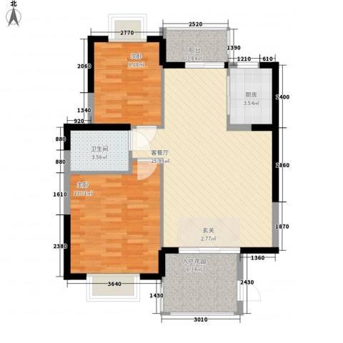腾龙商厦2室1厅1卫1厨90.00㎡户型图