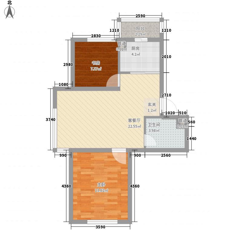 阳光嘉园78.00㎡阳光嘉园户型图2室2厅1卫户型10室