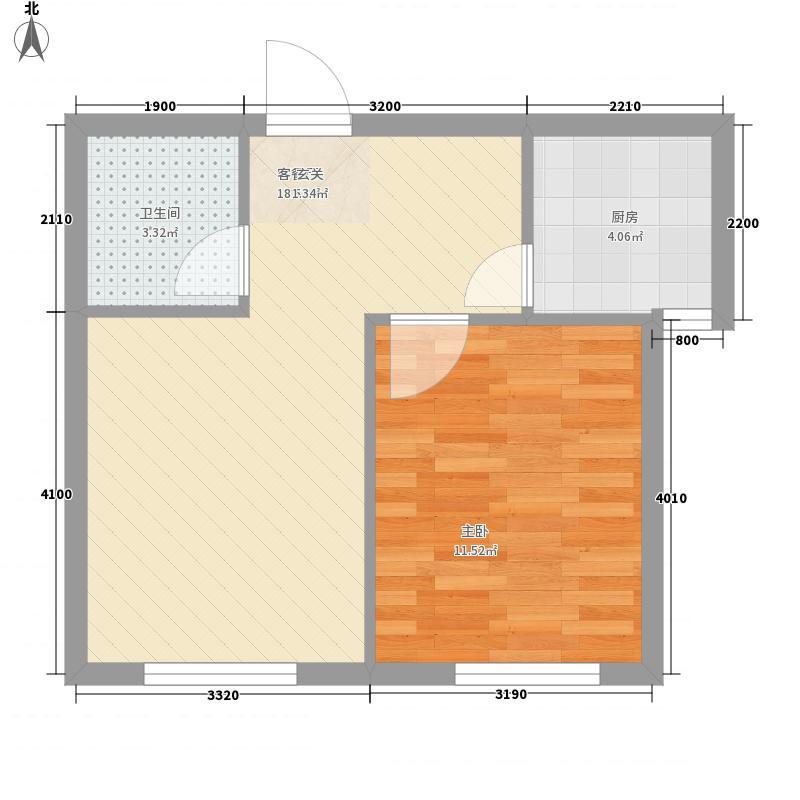 幸福岛54.82㎡幸福岛户型图1室2厅1卫户型10室
