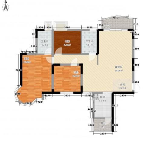 东健楼3室1厅2卫1厨133.00㎡户型图