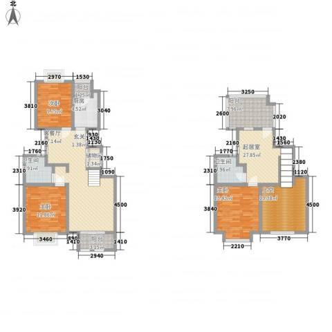 欧雅花园3室1厅2卫1厨151.00㎡户型图