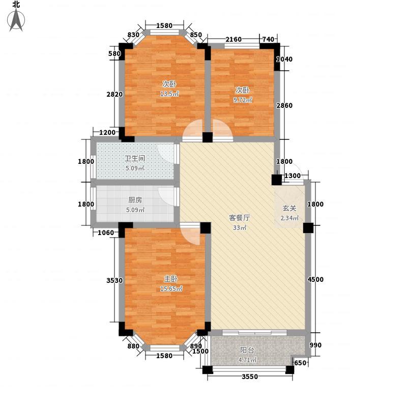 振荣锦尚公馆15.00㎡D户型3室2厅1卫1厨