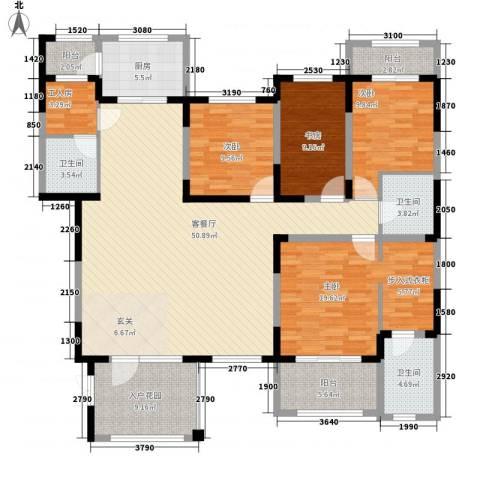 小平岛E组团4室1厅3卫1厨200.00㎡户型图