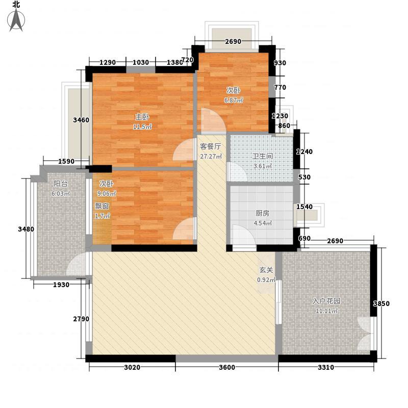 圣淘沙骏园90.56㎡深圳圣淘沙骏园户型图19户型10室