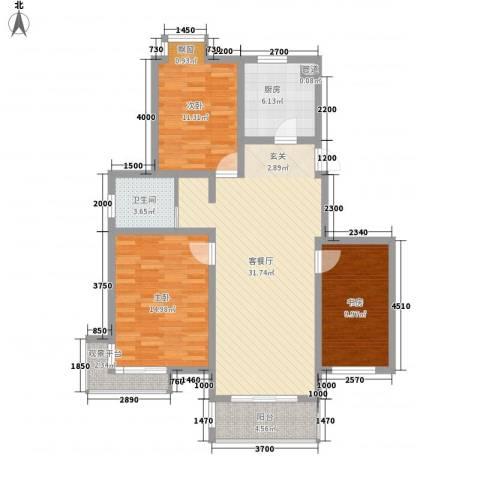 亚东同城印象3室1厅1卫1厨120.00㎡户型图