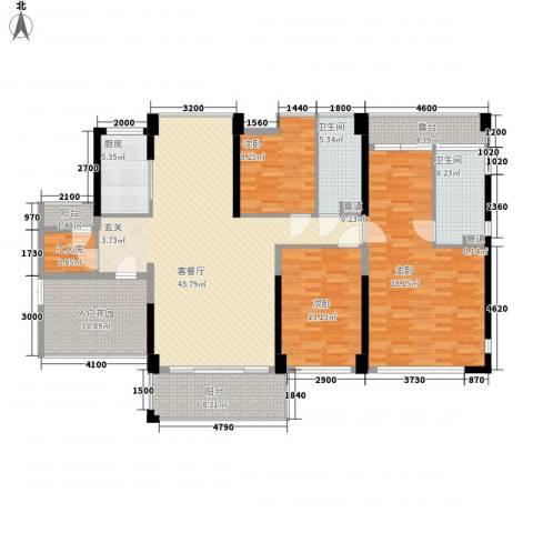 合生滨海城别墅3室1厅2卫1厨196.00㎡户型图