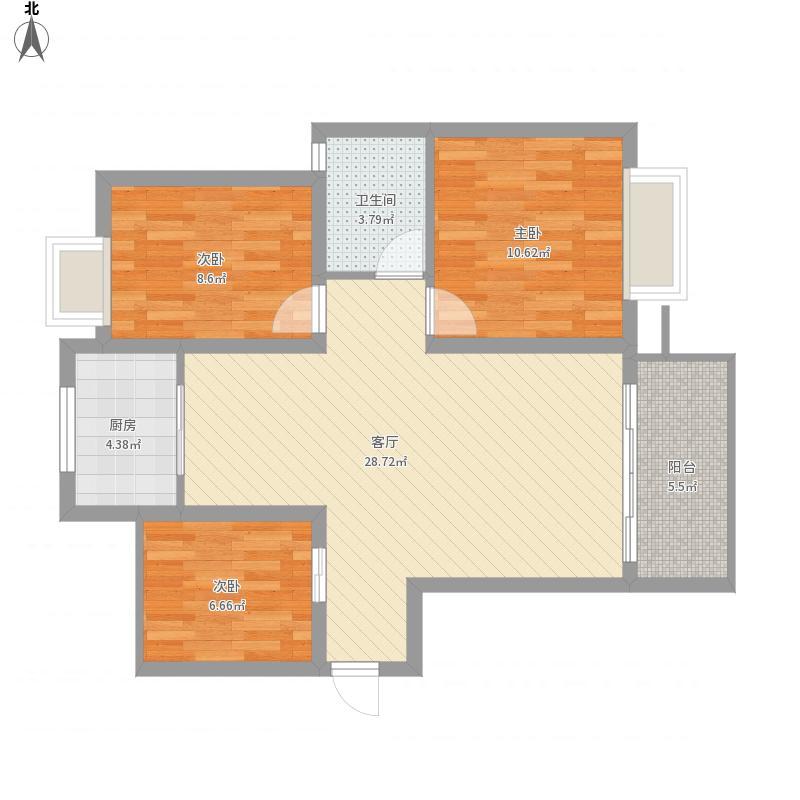 长沙-洋湖时代-设计方案94平