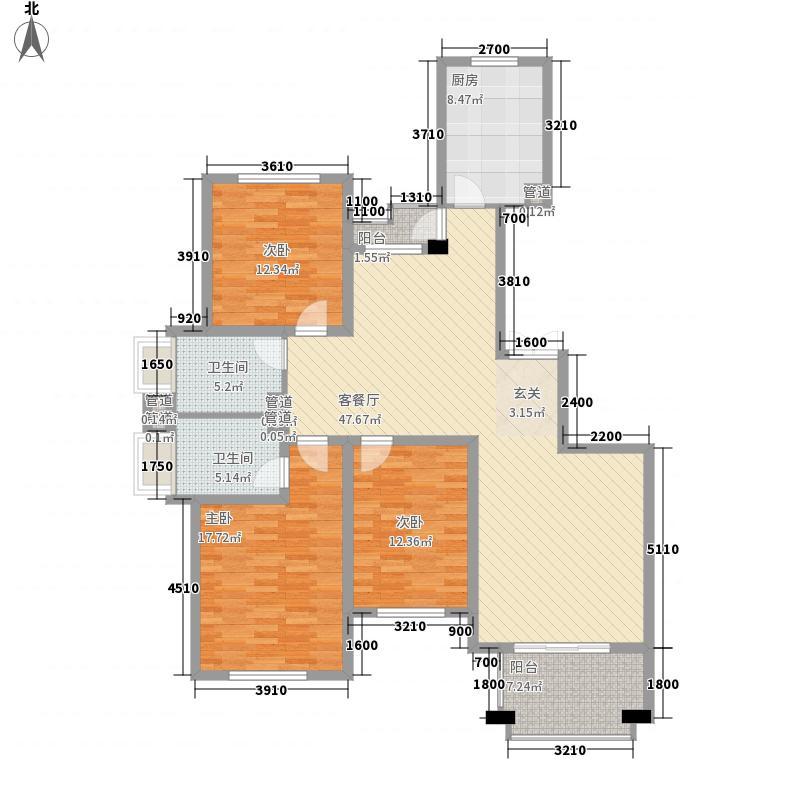 金都佳苑户型3室1厅1卫1厨