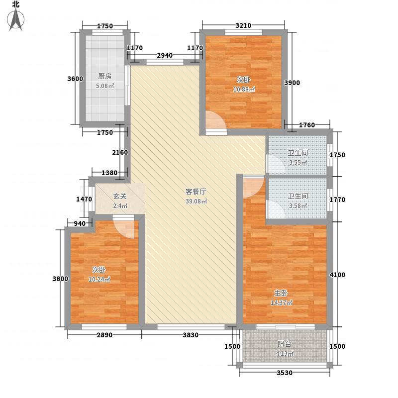 腾骐世家130.34㎡腾骐世家户型图单F户型3室2厅2卫1厨户型3室2厅2卫1厨