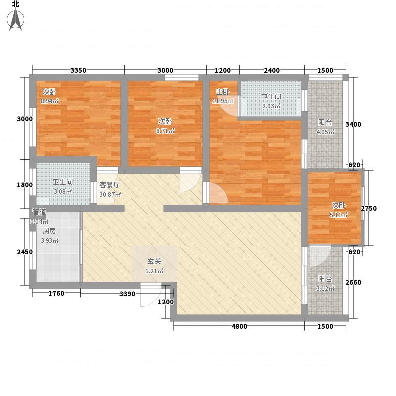旗志福地7.68㎡F1户型4室2厅2卫1厨