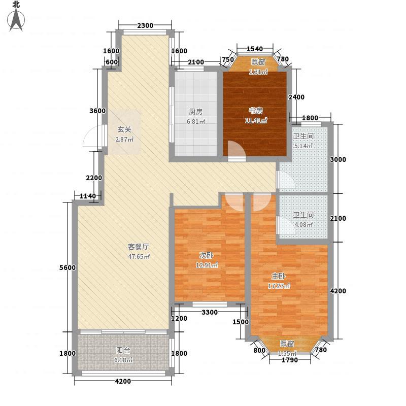 红状元9-12#B12户型3室2厅2卫1厨