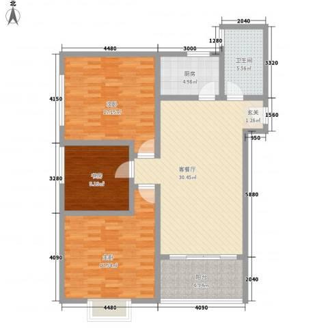 沛县帝都大厦3室1厅1卫1厨131.00㎡户型图