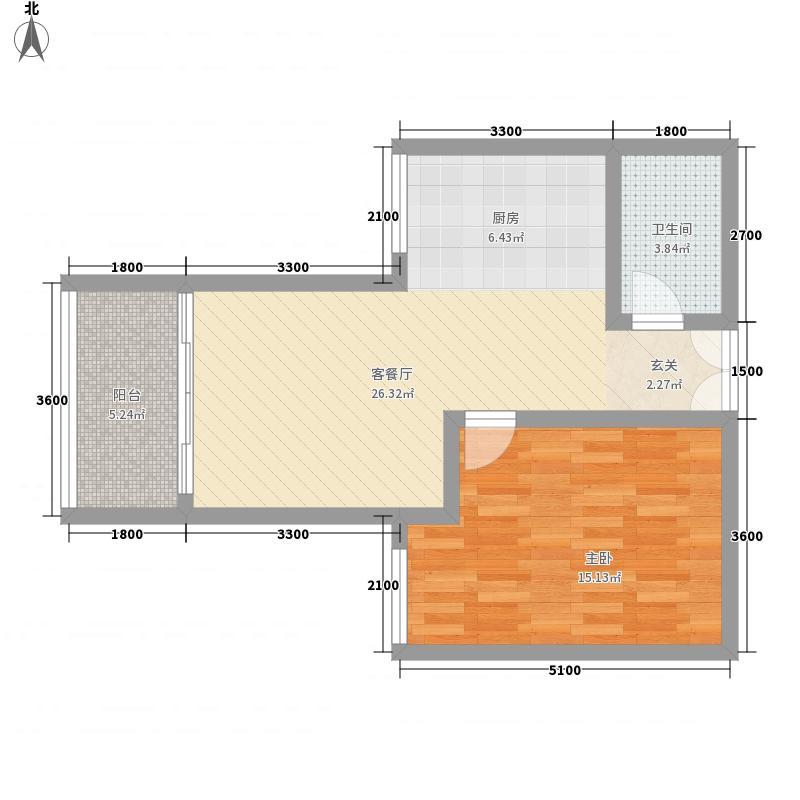 花城苑38.00㎡户型1室