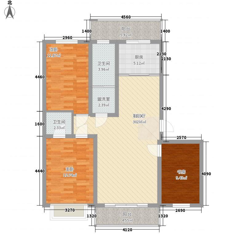 常青花园3室2厅3户型3室
