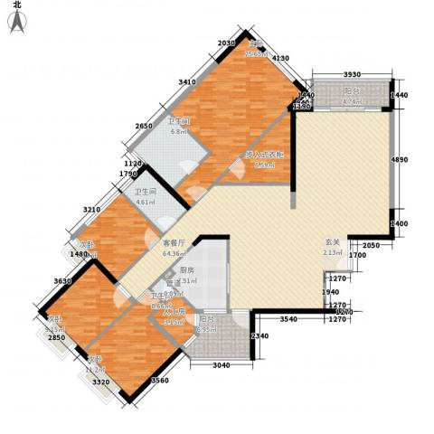 华标涛景湾4室1厅3卫1厨218.00㎡户型图