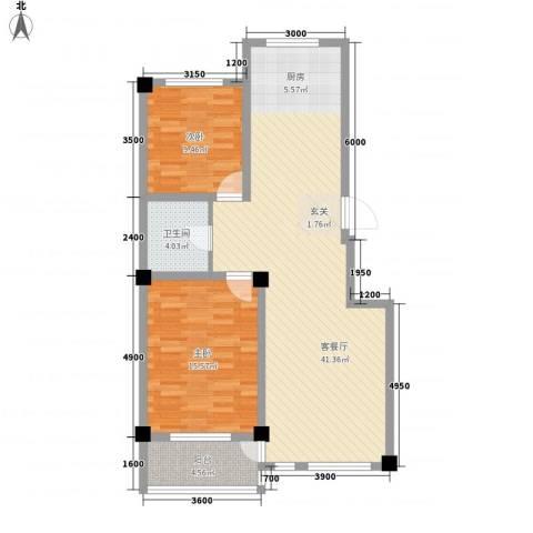 昌盛经典二期御花苑2室1厅1卫0厨94.00㎡户型图