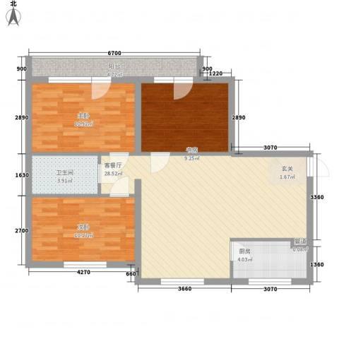 兴光A93室1厅1卫1厨102.00㎡户型图