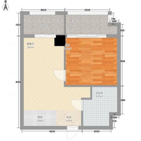 鹏欣・金游城1室1厅1卫0厨67.00㎡户型图