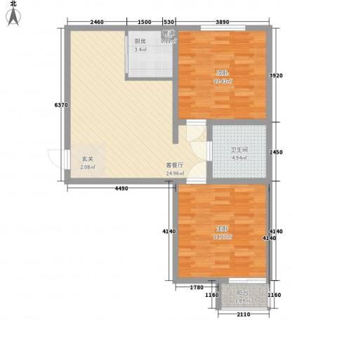 兴光A92室1厅1卫1厨89.00㎡户型图