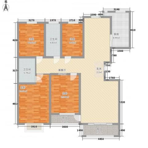 海藤名苑景苑4室1厅2卫1厨202.00㎡户型图
