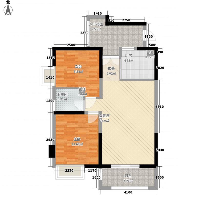 大正大厦2居户型2室1厅1卫1厨