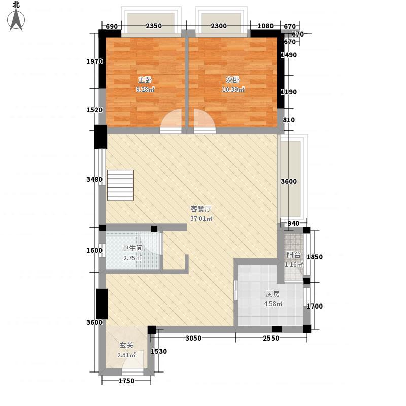 南棠蜜地二期5号楼标准层A户型