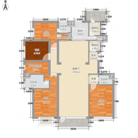 星海国宝4室1厅4卫1厨132.00㎡户型图