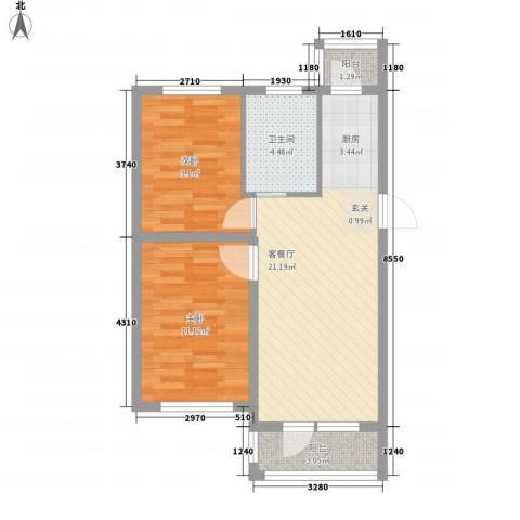 塞纳小镇2室1厅1卫0厨72.00㎡户型图