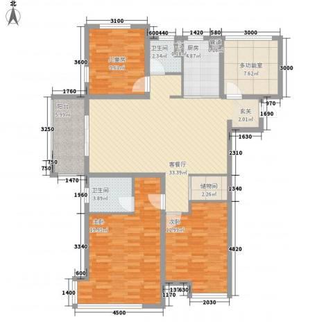 海亮九玺【锦上】3室1厅2卫1厨147.00㎡户型图