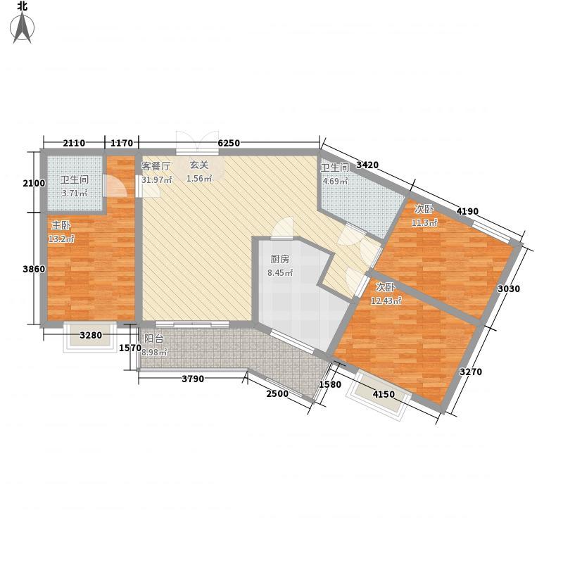 国恩大厦123.25㎡国恩大厦户型图3室2厅2卫1厨户型10室