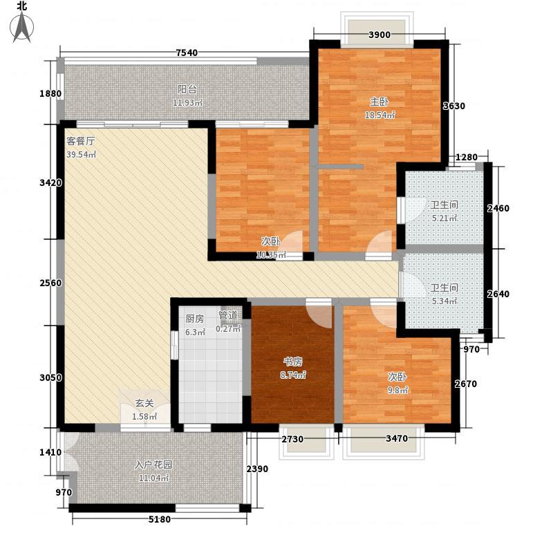 富宇大厦4-2-2-1-2户型4室2厅2卫1厨