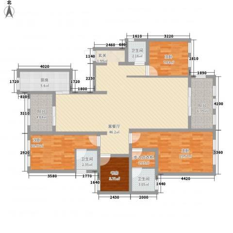 景江雅苑4室1厅3卫1厨170.00㎡户型图