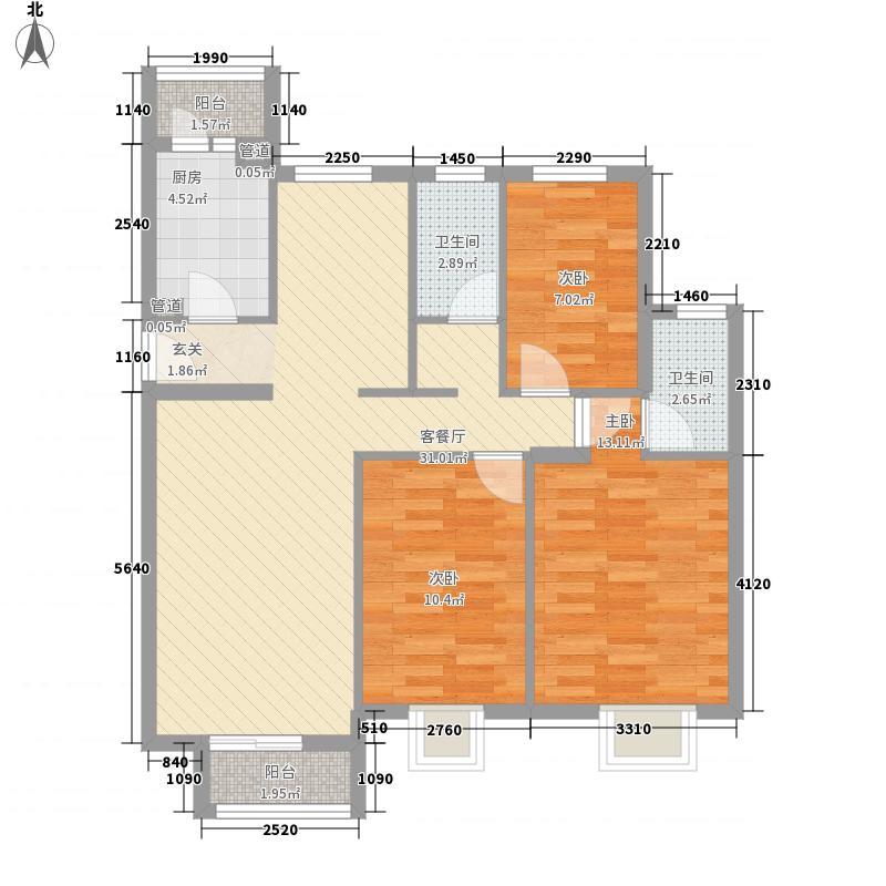 园林都市108.00㎡园林都市3室户型3室